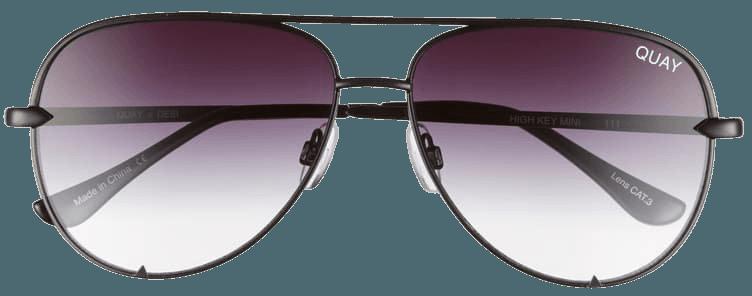 Quay Australia High Key Mini 57mm Aviator Sunglasses | Nordstrom