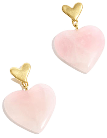 Rose Quartz Heartlove Statement Earrings