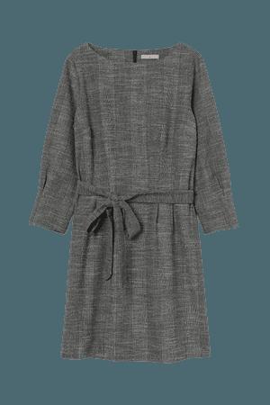 Boat-neck Dress - Black