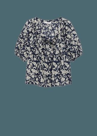 Printed cotton blouse - Women | Mango USA
