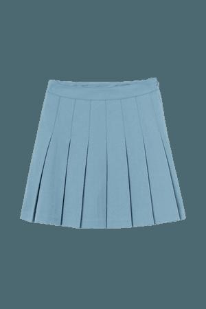 Pleated mini Skirt - Light blue - casual bold pop kei Ladies | H&M US