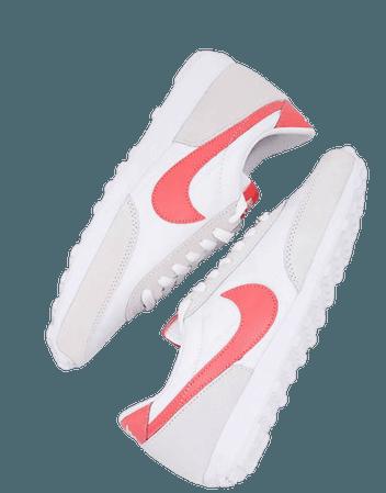 Nike Daybreak sneakers in white/magic ember | ASOS