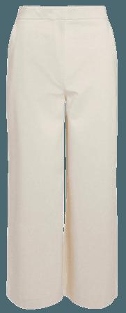 Wide Organic Woven Cotton Trouser   Karen Millen