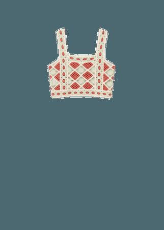 Crochet crop top - Women | Mango USA