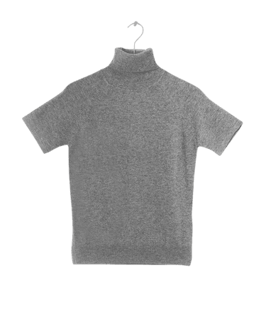 LEBRAND Gela Cashmere Turtleneck in Grey | The Dreslyn