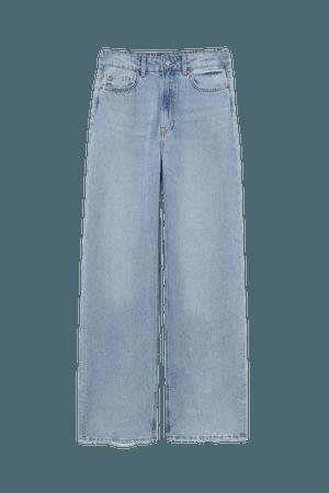Wide High Jeans - Light denim blue - Ladies | H&M US