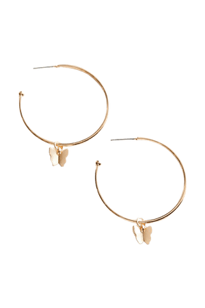 Butterfly Charm Hoop Earring | Urban Outfitters