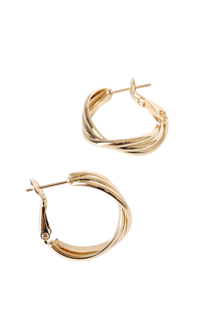 Gold Layered Hoop Earrings - Small Hoops - Gold Hoop Earrings