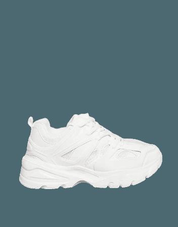 Public Desire Unorthodox sporty sneakers in white | ASOS