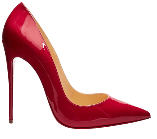 Christian Louboutin Red Patent Leather So Kate High Heels