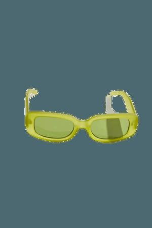Topanga Matte Rectangle Sunglasses | Urban Outfitters