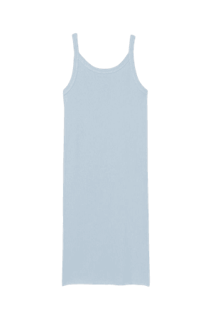 Ribbed Jersey Dress - Light blue - Ladies | H&M US