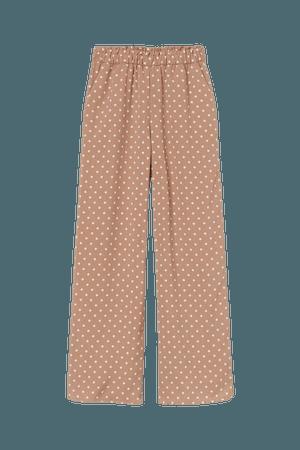 Wide-cut Pants - Beige/dotted - Ladies | H&M US