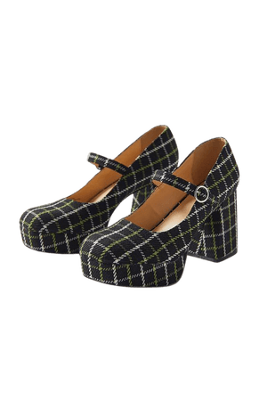 UO Sadie Plaid Mary Jane Platform Heel | Urban Outfitters