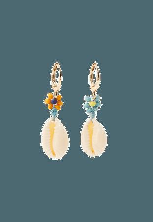 Flower and seashell earrings - pull&bear