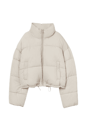 Short Puffer Jacket - Light beige - Ladies | H&M US
