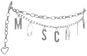 Moschino silver belt chain