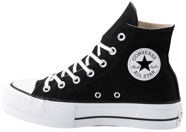 Womens Converse Chuck Taylor All Star Hi Platform Sneaker - Black | Journeys