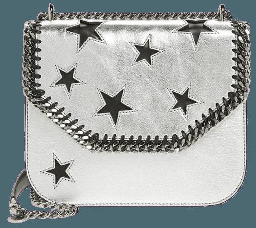 Women's Stella Mccartney Falabella Star Cutout Metallic Faux Leather bag
