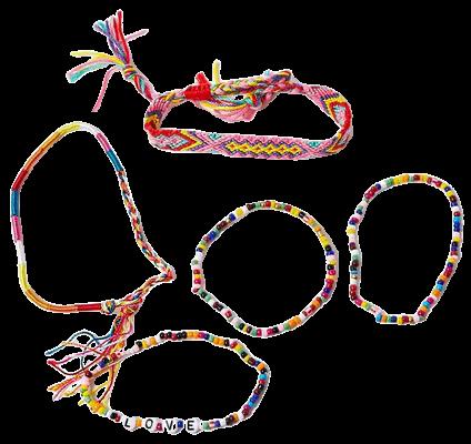 Beaded & Threaded Bracelet Set
