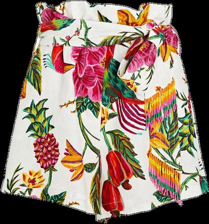 Farm Rio Toucans Garden Paperbag Shorts | INTERMIX®