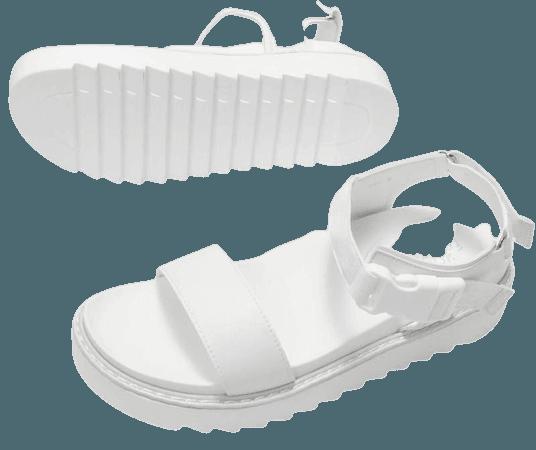 Machi Chunky White Sandals | Koi