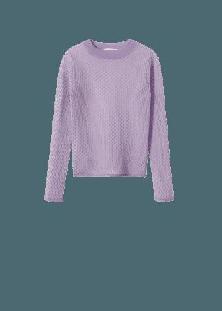 Textured checked sweater - Women | Mango USA