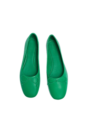 Leather ballerinas with bow - pull&bear