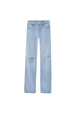 Low-rise straight-leg jeans - pull&bear