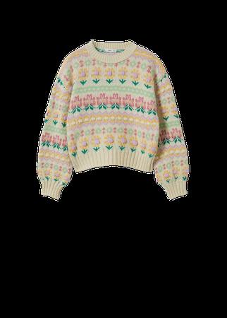 Multi-colored knit sweater - Women | Mango USA