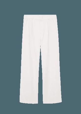 Pleat detail cotton trousers - Women | Mango USA