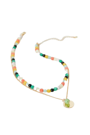 Rainbow Beaded Layer Necklace | Urban Outfitters