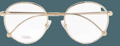 Fendi | Round-frame gold-tone optical glasses | NET-A-PORTER.COM