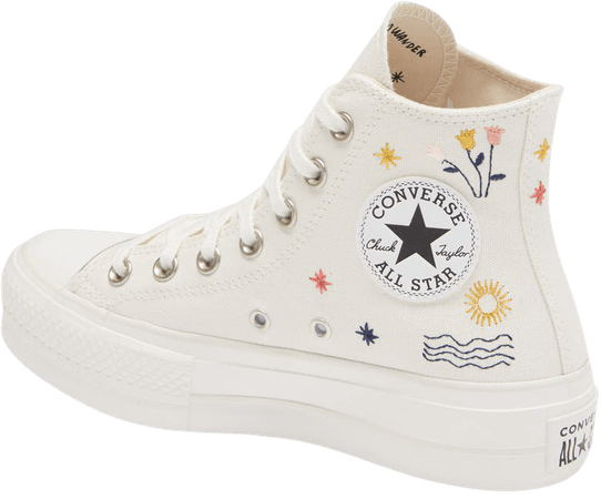 Converse Chuck Taylor® All Star® It's Okay to Wander Embroidered Platform Sneaker (Women) | Nordstrom
