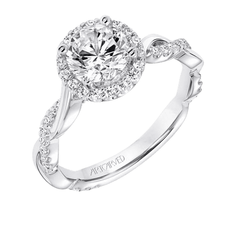 14 Karat White Gold/Diamond Engagement Ring