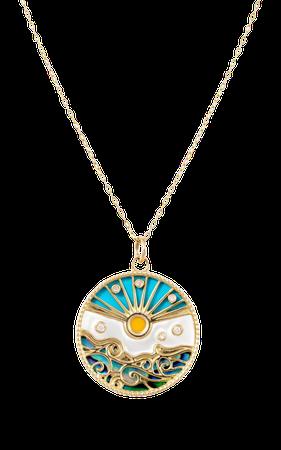 Love Summer 18k Yellow Gold Multi-Stone Necklace By L'atelier Nawbar   Moda Operandi