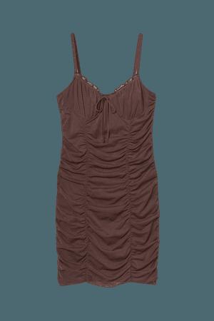 Draped Dress - Brown - Ladies   H&M US