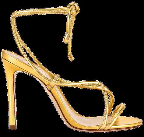 Schutz Dale Sandal in Ouro | REVOLVE