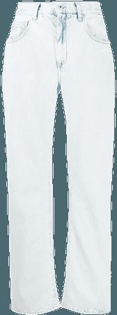 blue Off-White straight-leg jeans