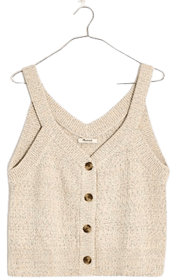 Rainbow Marled Wakefield Button-Front Sweater Tank