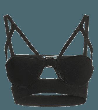 Franca Cutout Cashmere Bralette By Khaite   Moda Operandi
