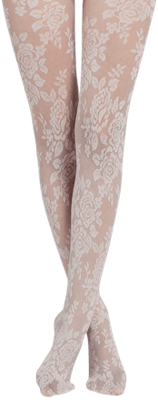 Floral tulle effect tights - Calzedonia