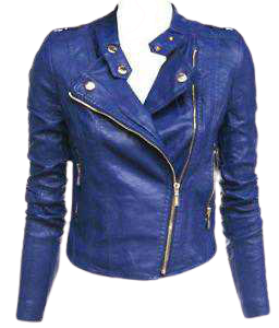 Blue Leather Jacket | eBay