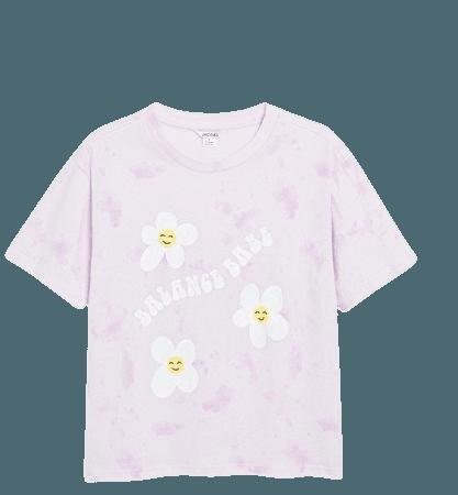 Statement cotton t-shirt - Balance babe - T-shirts - Monki WW