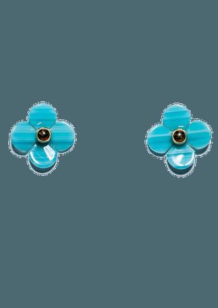 Lele Sadoughi Poppy Button Stud Earrings | Nordstrom