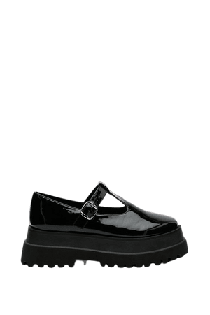 Patent Faux Leather T Bar Platform Mary Janes | Nasty Gal