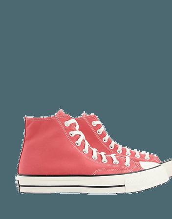 Converse Chuck 70 Hi sneakers in terracotta pink | ASOS