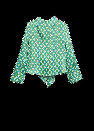 Geometric-print blouse - Women | Mango USA