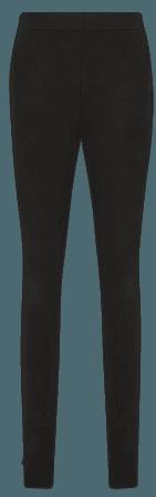 Petite Dana Black Petite Zip Detail Ponte Jersey Leggings – REISS
