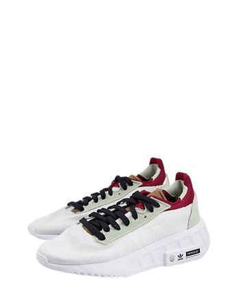 adidas Originals Geodiver sneakers in white with color detail | ASOS